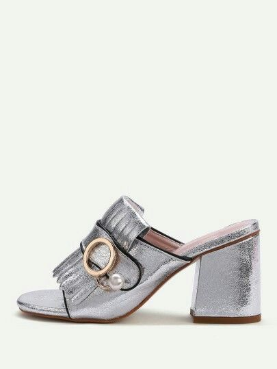 885049f5573e 32.09 gucci dupes fringed silver mules