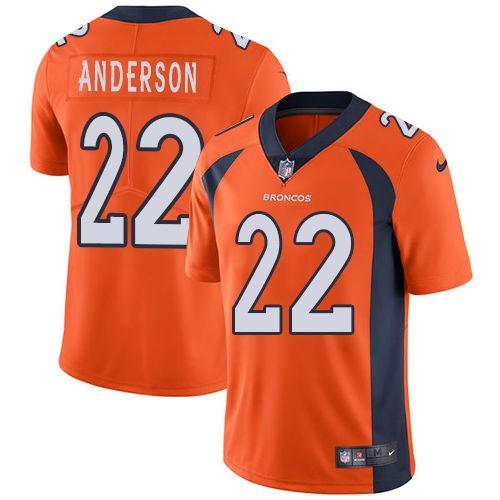 81cef5c7f Steelers James Harrison jersey Nike Broncos  22 C.J. Anderson Orange Team  Color Men s Stitched NFL