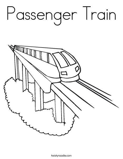 Passenger Train Coloring Page Train Coloring Pages Coloring Pages Train Drawing