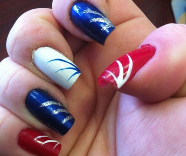 fireworks nail art - Fireworks Nail Art Hair & Nails Pinterest Firework Nail Art