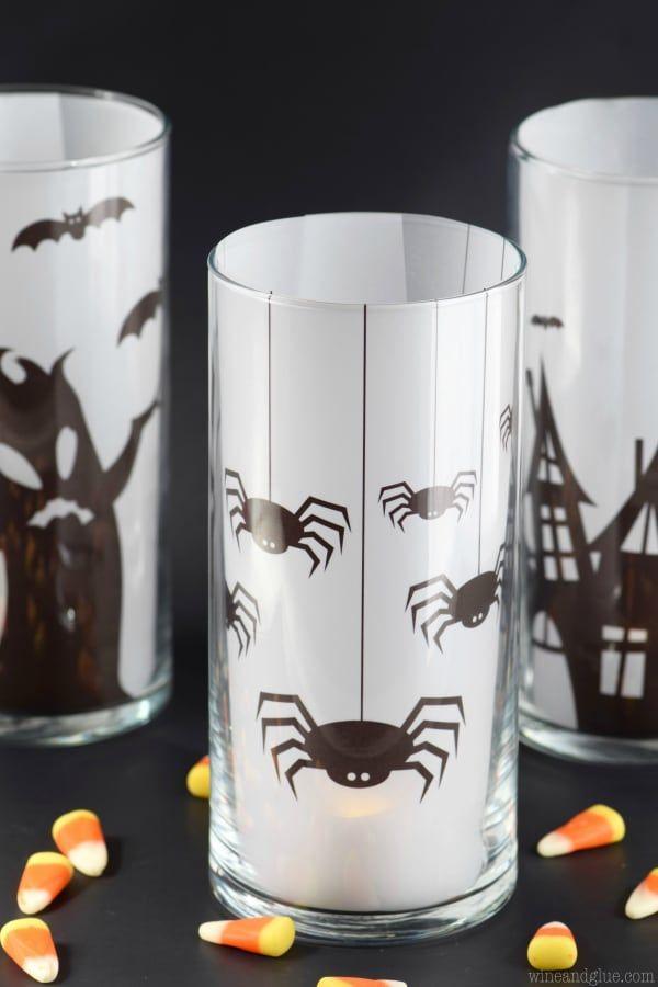 Easy Halloween Decoration Spooky Candles Happy Halloween