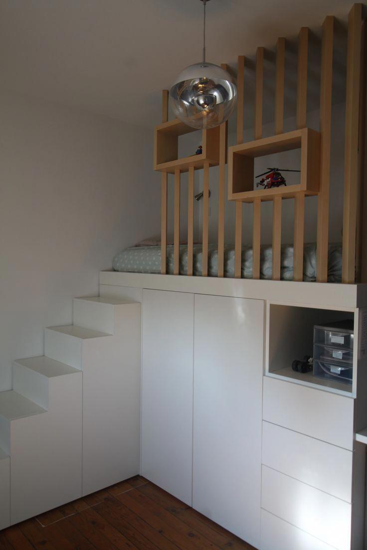 Chambre Avec Mezzanine Esprit Cabane Scandinave Petitsespace