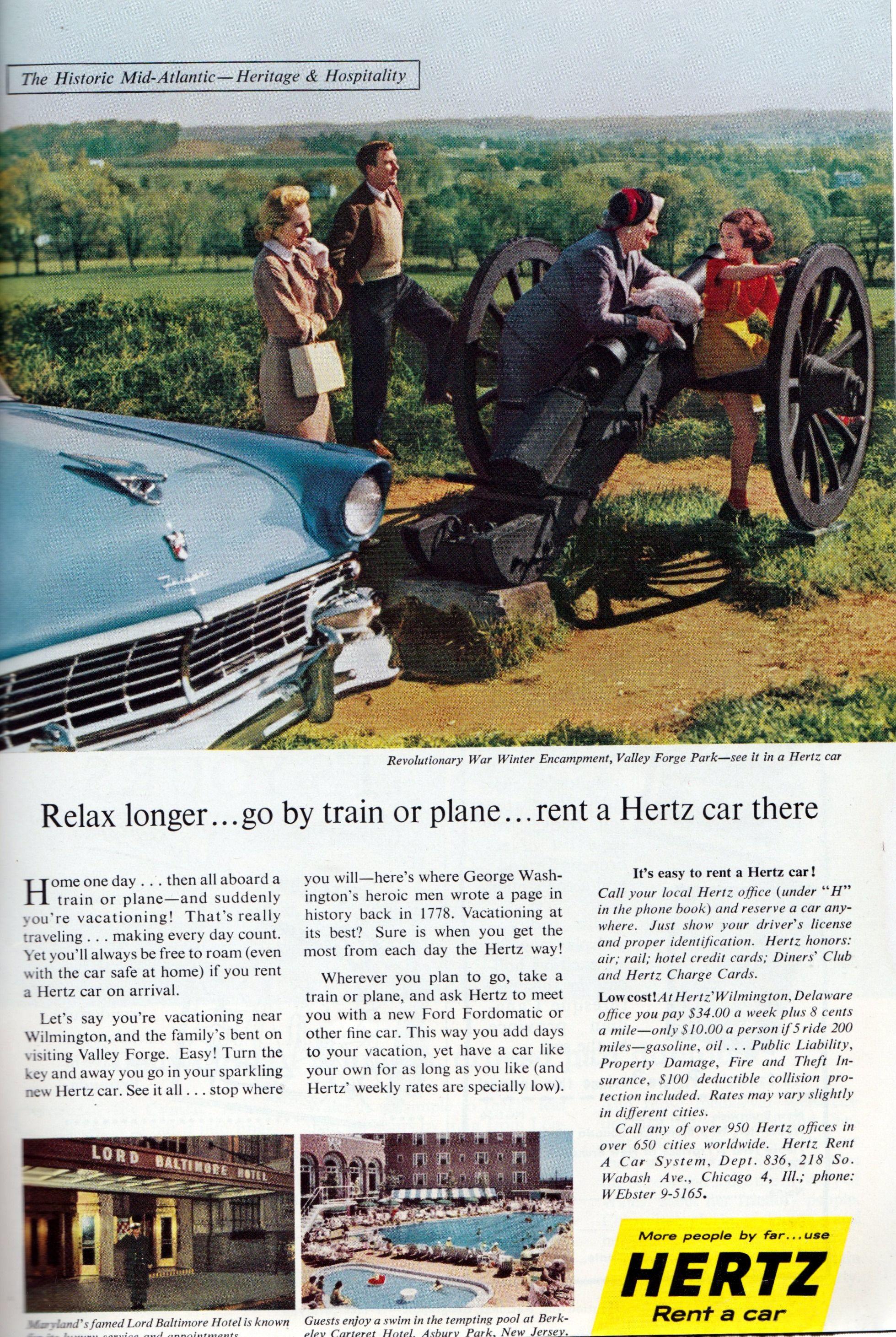 Hertz RentACar Vintage ads, Car ads, Old ads