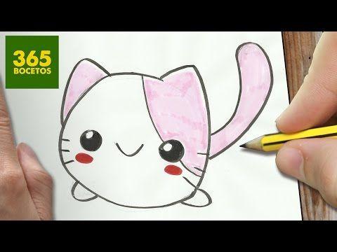 Como Dibujar Gato Kawaii Paso A Paso Dibujos Kawaii Faciles How To Draw A Cat Youtube Disegni Kawaii Kawaii Disegni