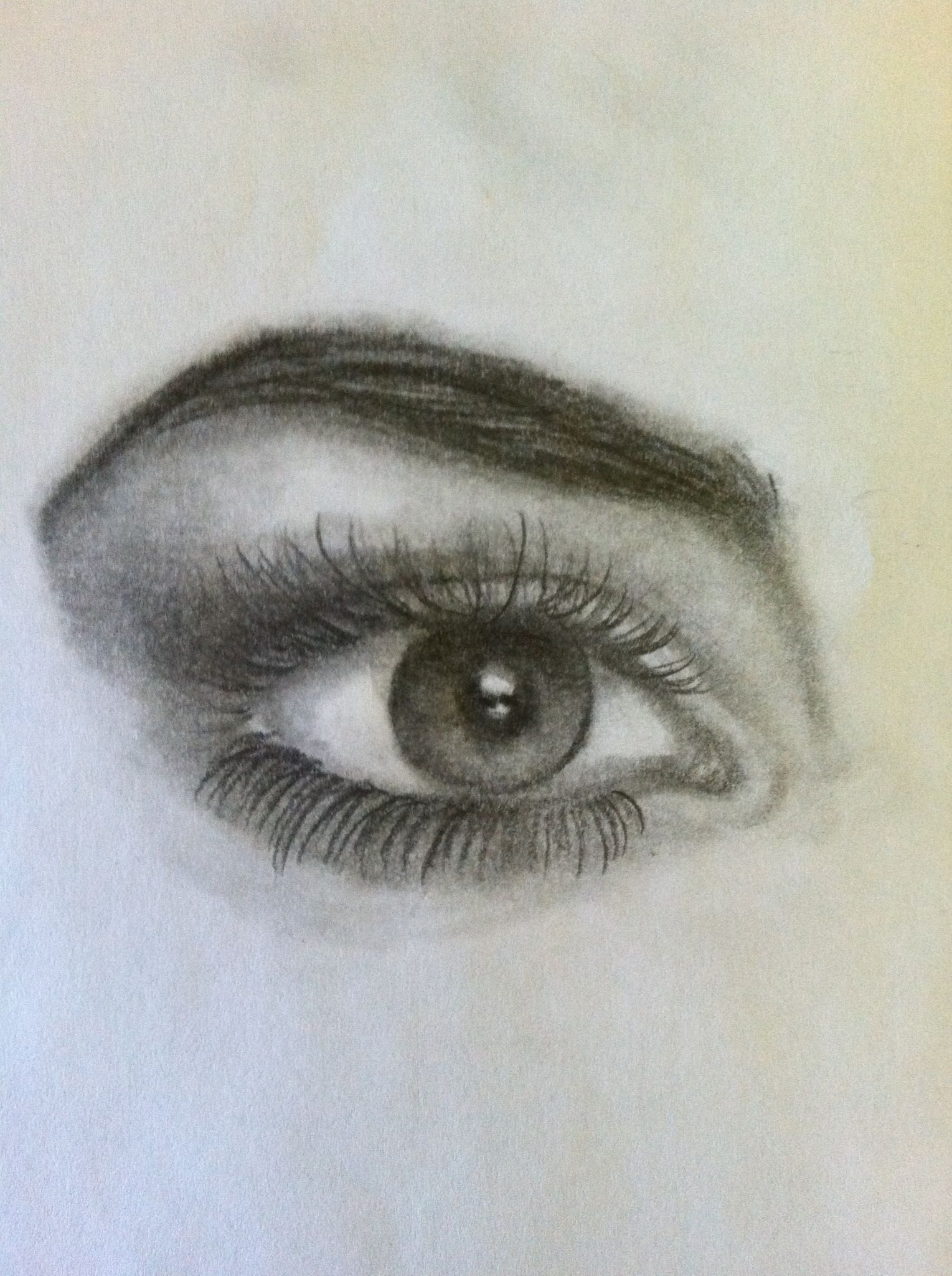 eyebrow shading drawing. how to draw eyes, at the end of guide on eyes it shows eyebrow shading drawing h