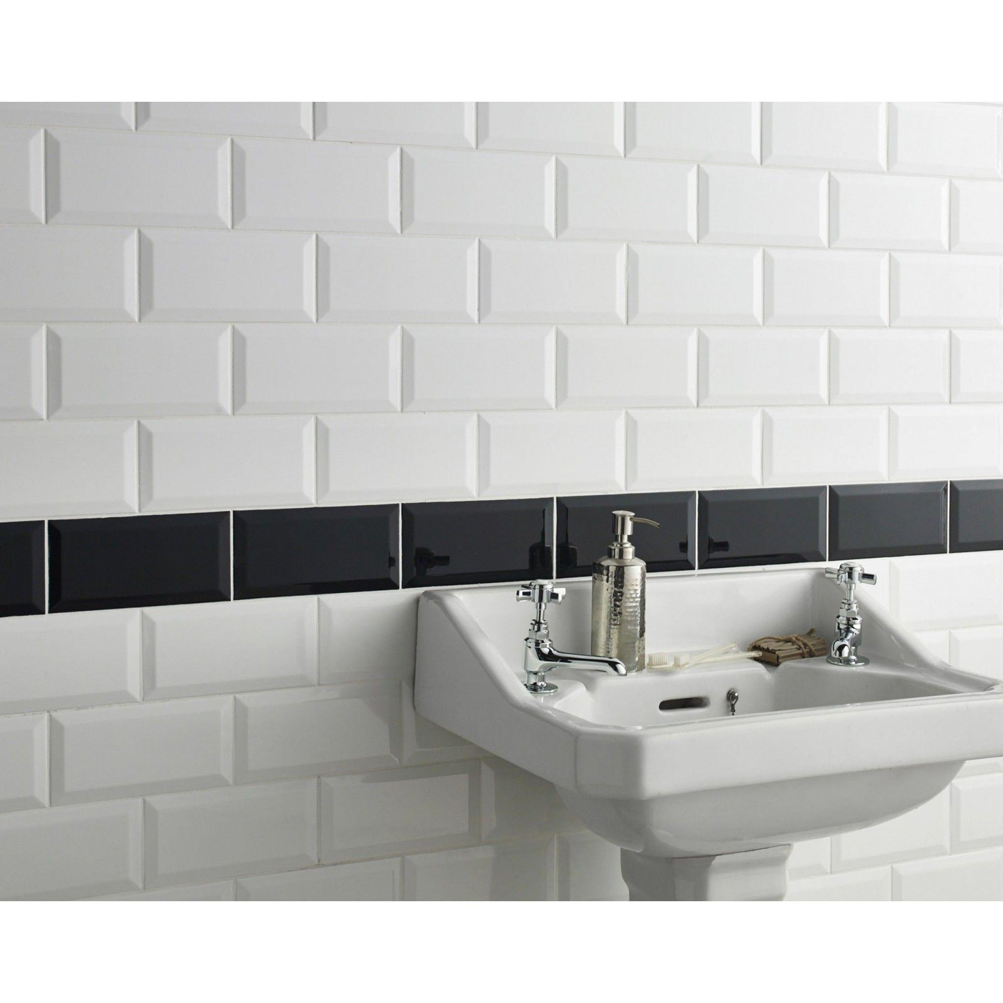 Metro White Wall Tile   White wall tiles, Wall tiles and Walls