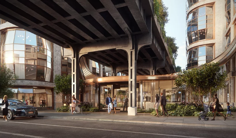 Heatherwick Studio Reveals Lobby For Lantern House Residences In New York Building Images Architecture Rendering Pavilion