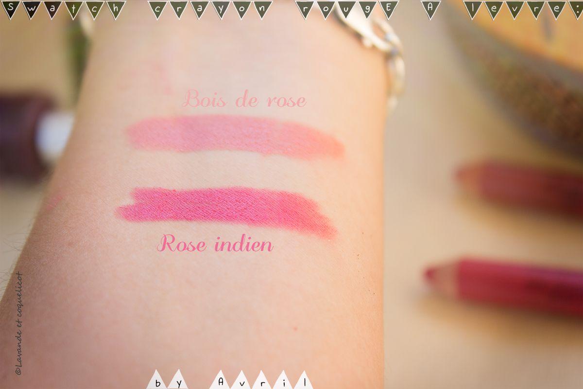 Préférence Swatch du crayon rouge à lèvres certifié #bio Avril par la jolie  UT45