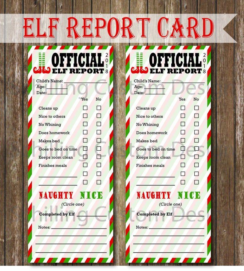 Christmas Report Card Digital Download Child S Report Etsy Teacher Appreciation Diy Teachers Diy Christmas Charts