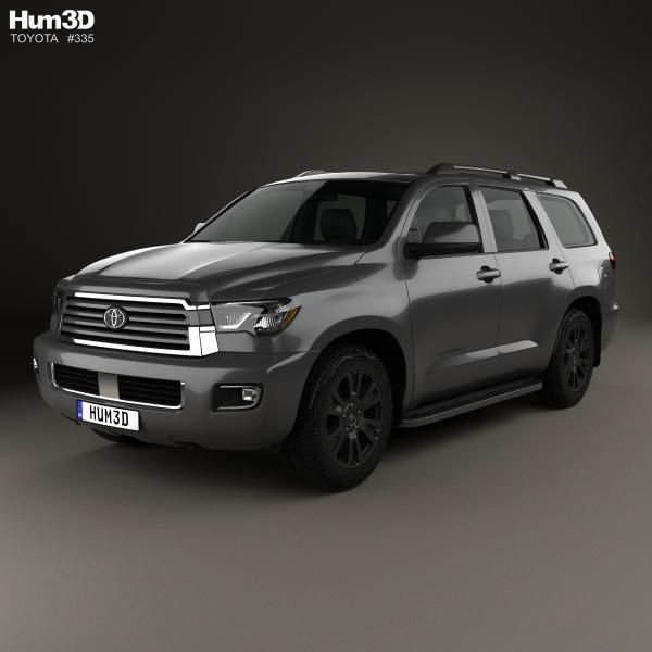 2018 Toyota Sequoia Review And Specs: Toyota Sequoia TRD Sport 2018 3d Model From Hum3d.com