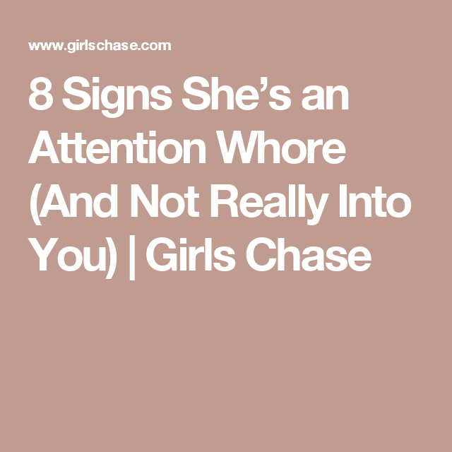 Signs shes a whore