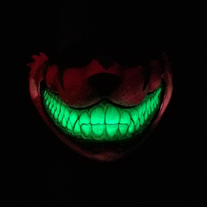 Cheshire Cat Mempo Black light and Glow in the dark | Etsy