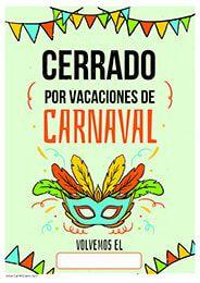 Cerrado por vacaciones de carnaval carnaval vacaciones spa cartel cerrado por vacaciones de carnaval thecheapjerseys Image collections