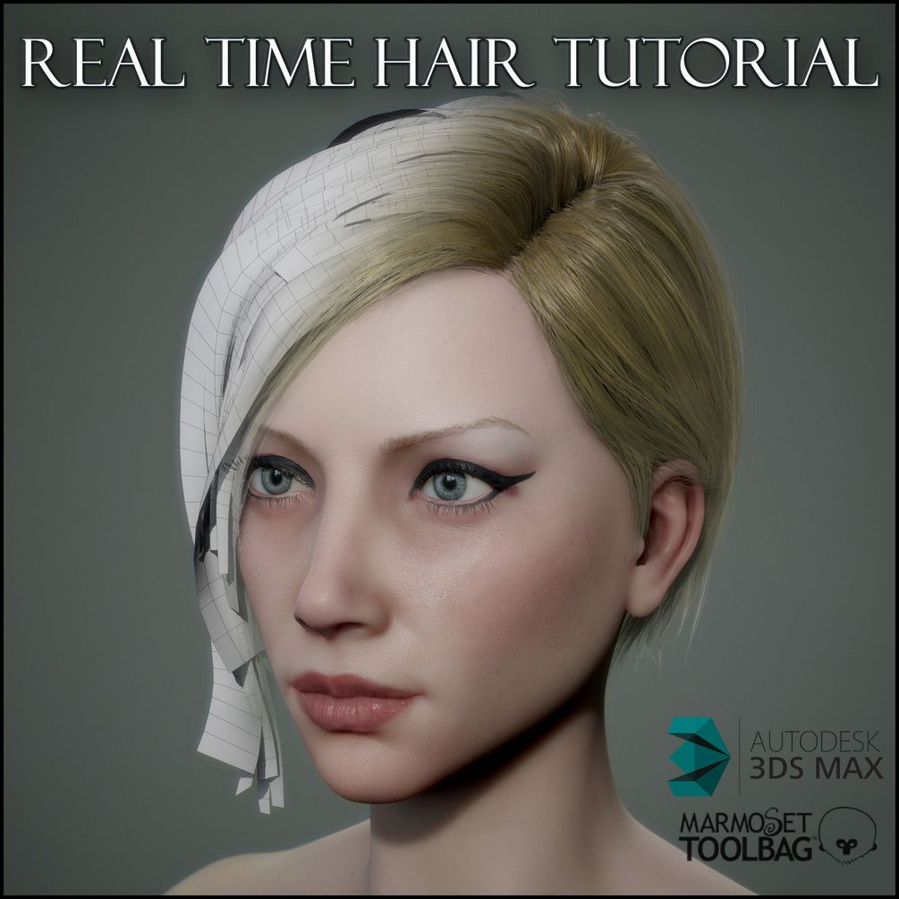 Real Time Hair Tutorial 3d Software 3ds Max And 3d