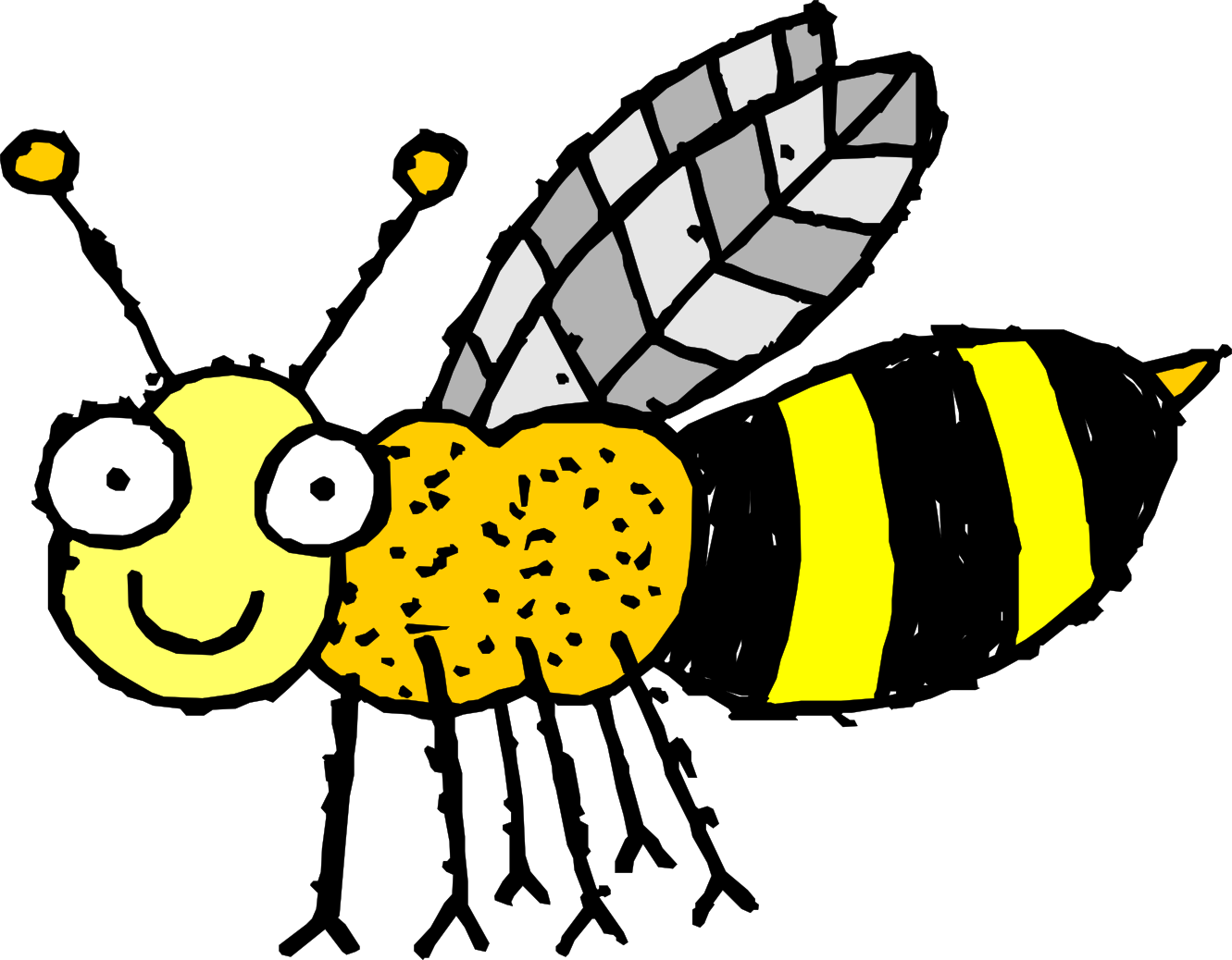 Bee Clipart 4 Free Clip Art Drawings And Colorful Clipartcow