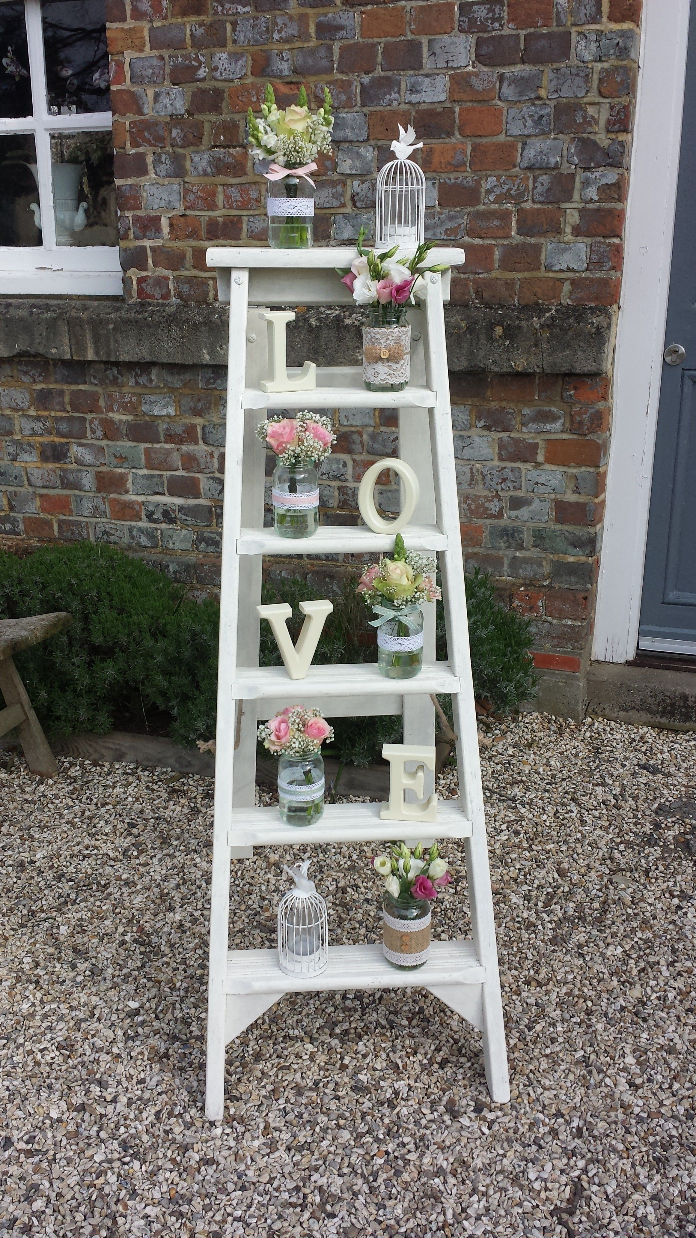 Just love our rustic step ladders and props at weddings wedding just love our rustic step ladders and props at weddings junglespirit Choice Image