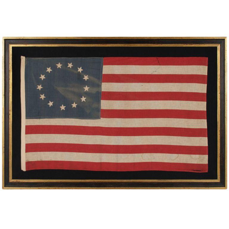 vintage framed Colonial US flag | Design/Architecture | Pinterest ...