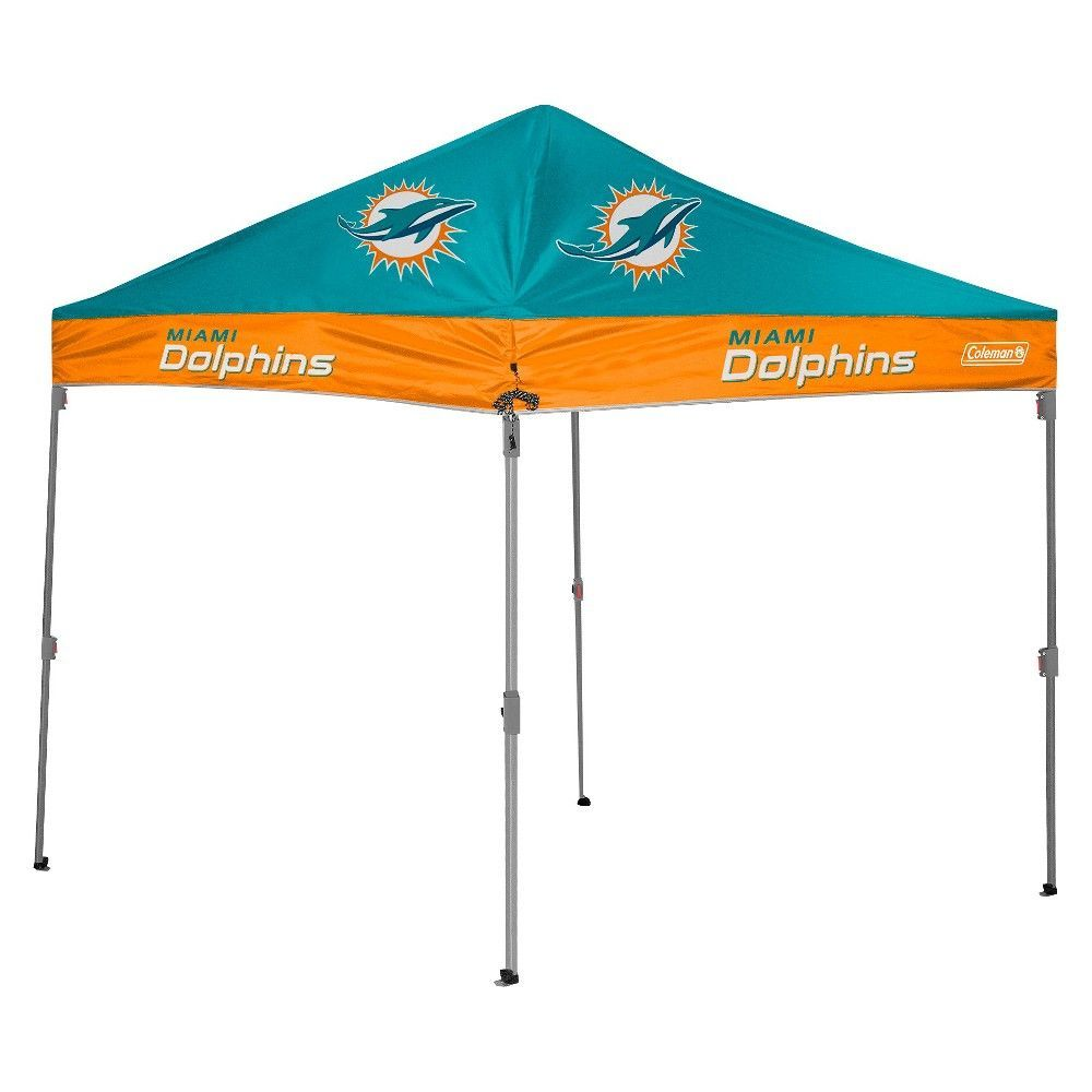 Straight Leg Canopy Tent - Miami Dolphins  sc 1 st  Pinterest & NFL Coleman 10x10 ft. Straight Leg Canopy Tent - Miami Dolphins ...