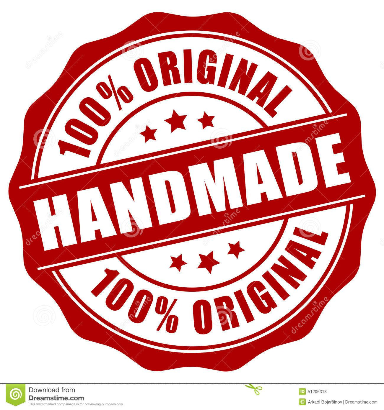 Handmade Stamp Stock Vector - Image: 51206313 ...