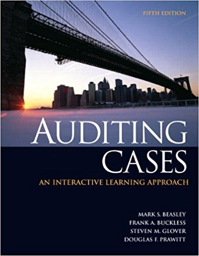 Solution manual for auditing cases an interactive learning approach solution manual for auditing cases an interactive learning approach 5th edition by beasely interactive learning fandeluxe Image collections
