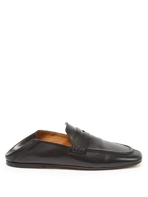 ed7e4368467 ISABEL MARANT Étoile Fanzel Collapsible-Heel Leather Loafers.  isabelmarant   shoes  flats