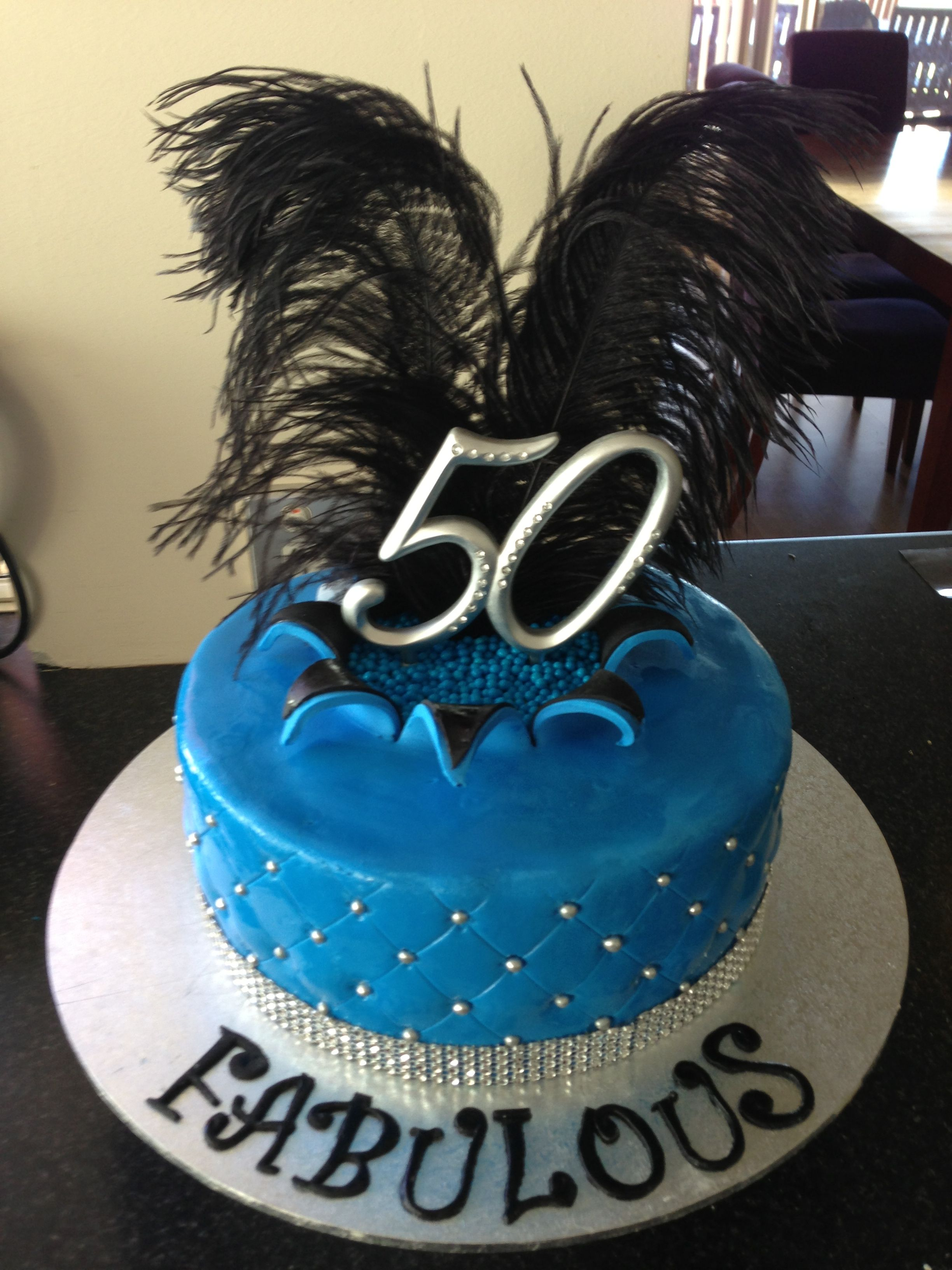 50 And Fabulous Birthday Cake 50th B Day Party Pinterest
