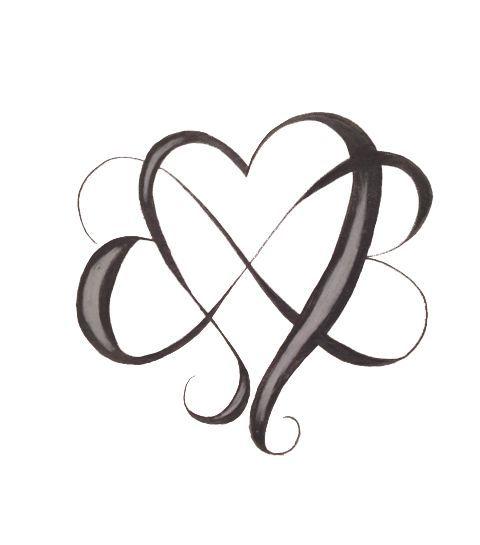 Infini Avec Coeurs Enchevetres Tatouage Tatouage Tatouage Femme