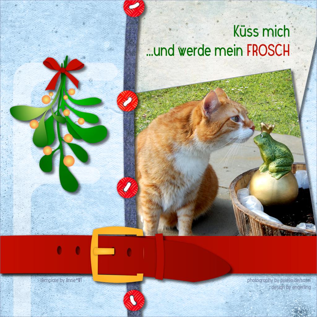 """Küss mich ...und werde mein Frosch / ... kiss me and become my FROG - """"F""""-template by wondertalk.de"""