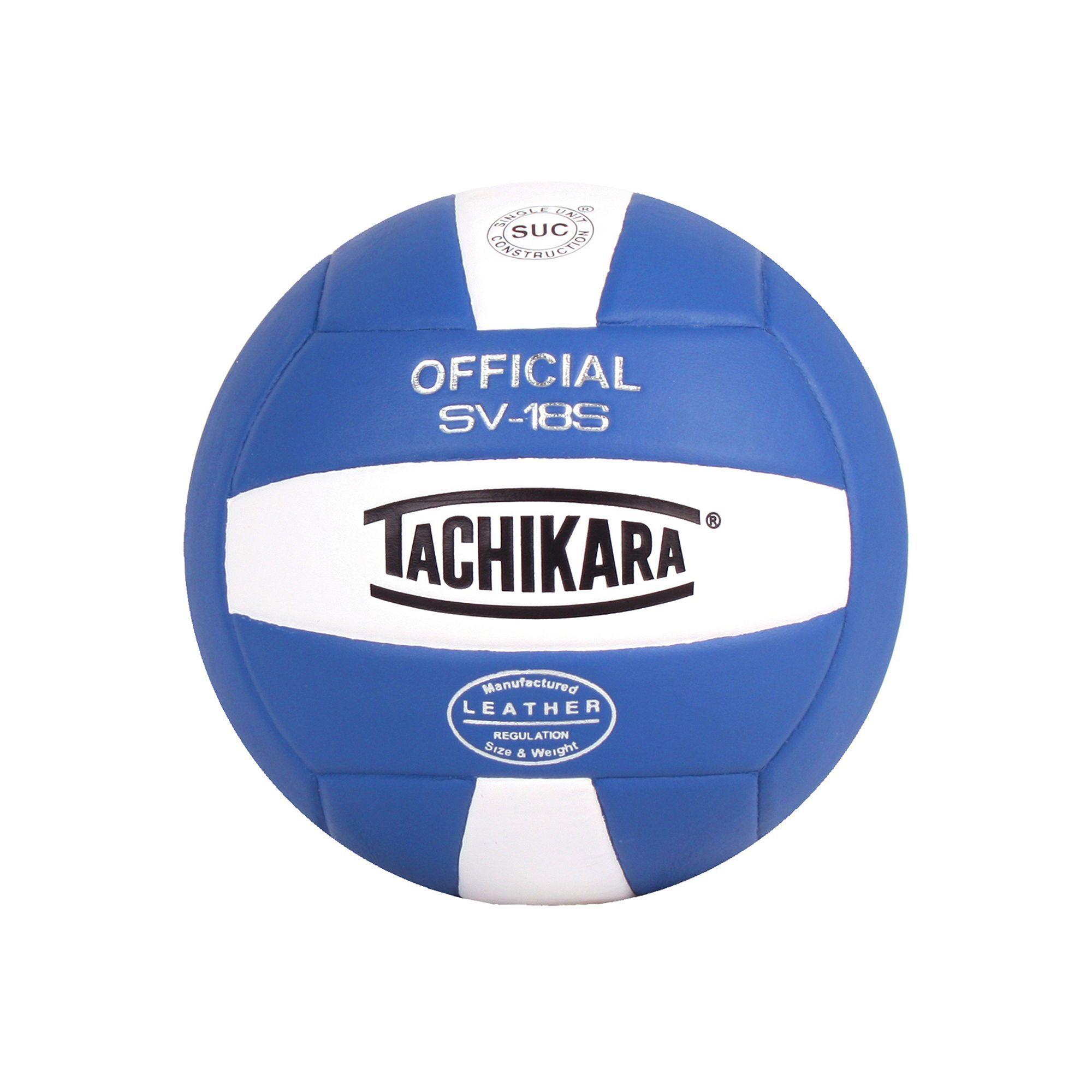 Tachikara Official Sv18s Composite Leather Volleyball Blue Indoor Volleyball Volleyballs Volleyball
