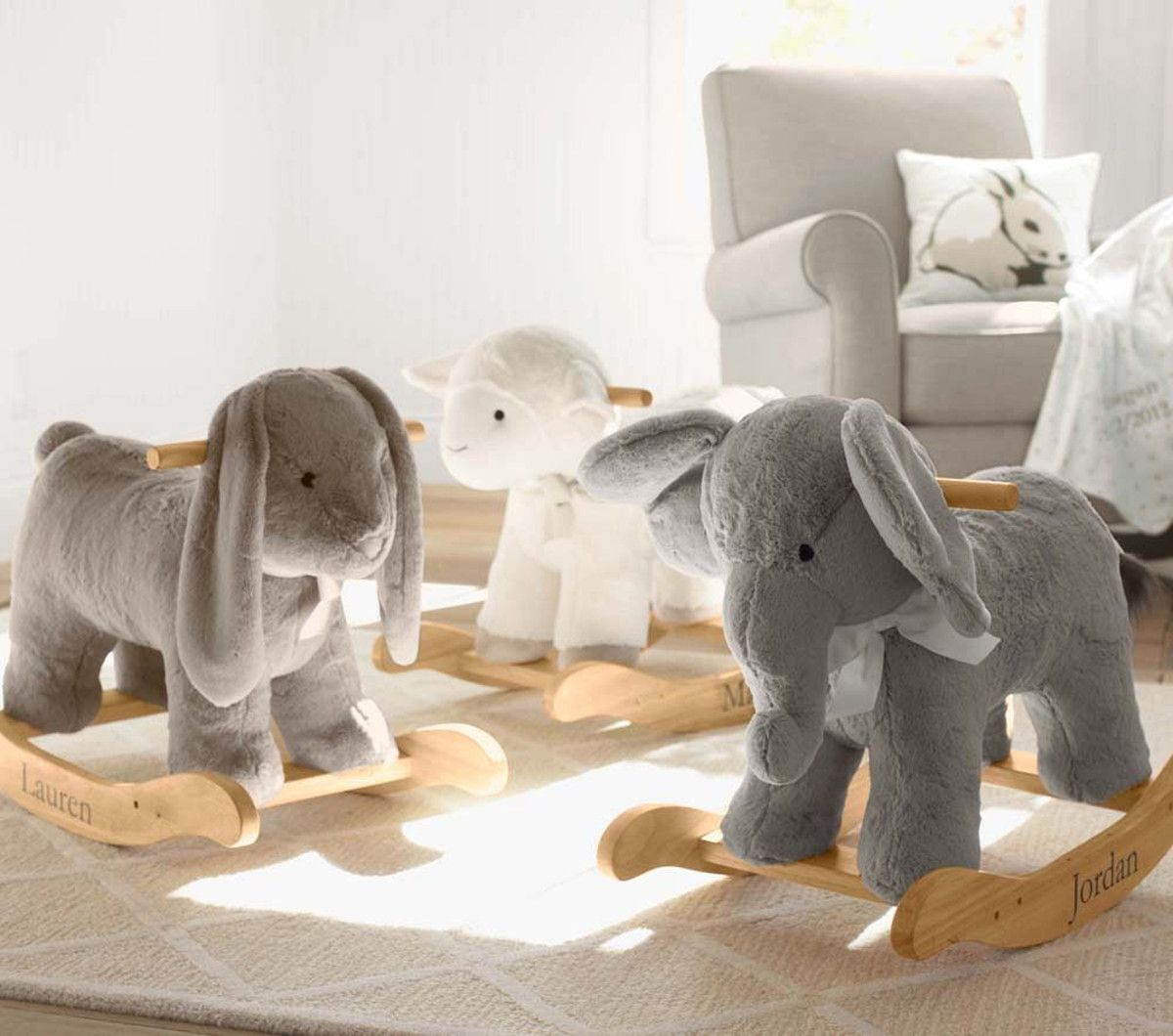 Elephant Plush Rocker Elephant Nursery New Baby