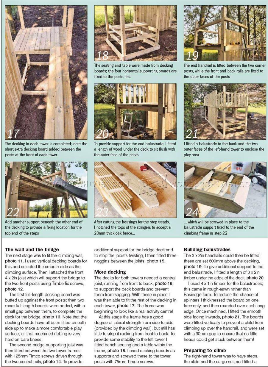 2232 Kids Climbing Frame Plans - Children\'s Outdoor Plans   DIY ...
