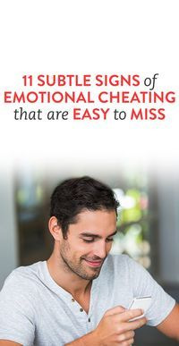 Subtle signs of cheating