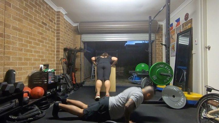 @streetparking Veintetres! Backto the garage with Condy and we love all the subs! ----------------------------------- #tayusgarage #streetparking #streetparkingmembers #garagegym #garagegymlife #garagegymcommunity #garagegymhustle #homegym #hiit #wod #workout #training #exercise #couplegoals #marriedgoals #healthylifestyle #fitnessmotivation #tuesdayvibes #fit #kettlebell #kettlebellswing #kettlebelldeadlifts #deadlift #garagesqwod #garagegymculture #aussiestreetparker #stayhomesafe #shiftworkou