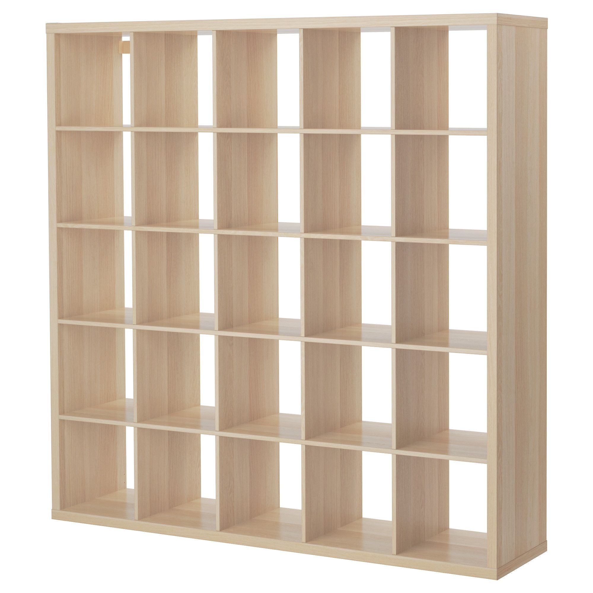 Kallax Shelving Unit White Stained Oak Effect 182x182 Cm Avec