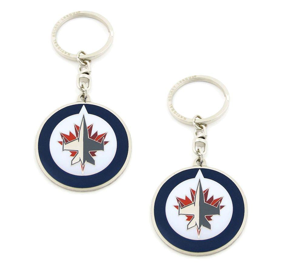 NHL Winnipeg Jets Logo Keychain Pair (2 Units)