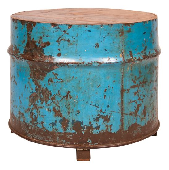 Vintage Metal Drum Coffee Table Coffee tables Pinterest Drum