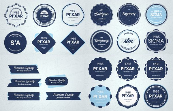 XOO Plate  28 Finely Crafted Web UI Badges Set PSD - 28 Creative - abel templates psd