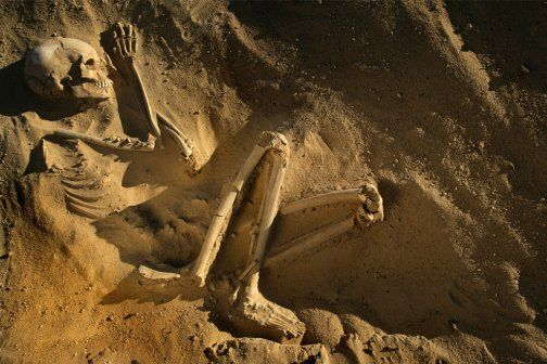 Fossilized Human in the Sahara Desert