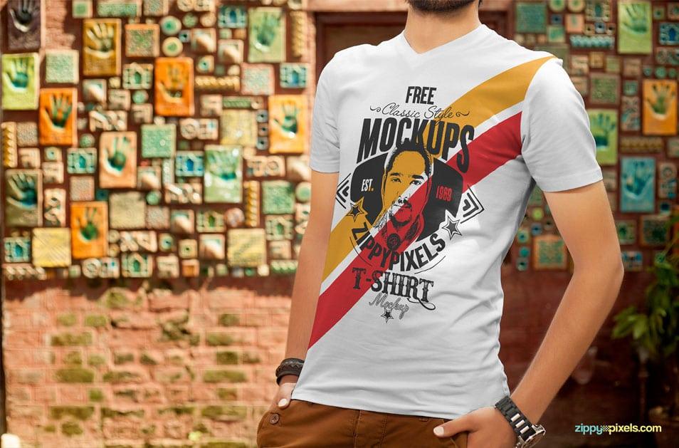 Download Free T Shirt Design Mockup Free T Shirt Design Shirt Mockup Clothing Mockup