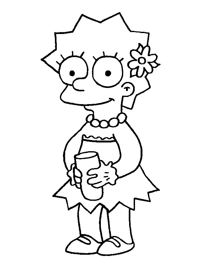 Lisa Simpson Beautiful   Coloring Pages - The Simpsons   Pinterest ...