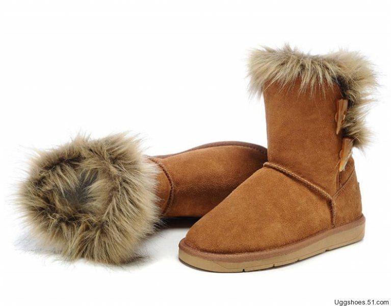 UGG Botas Foxfur zapatos