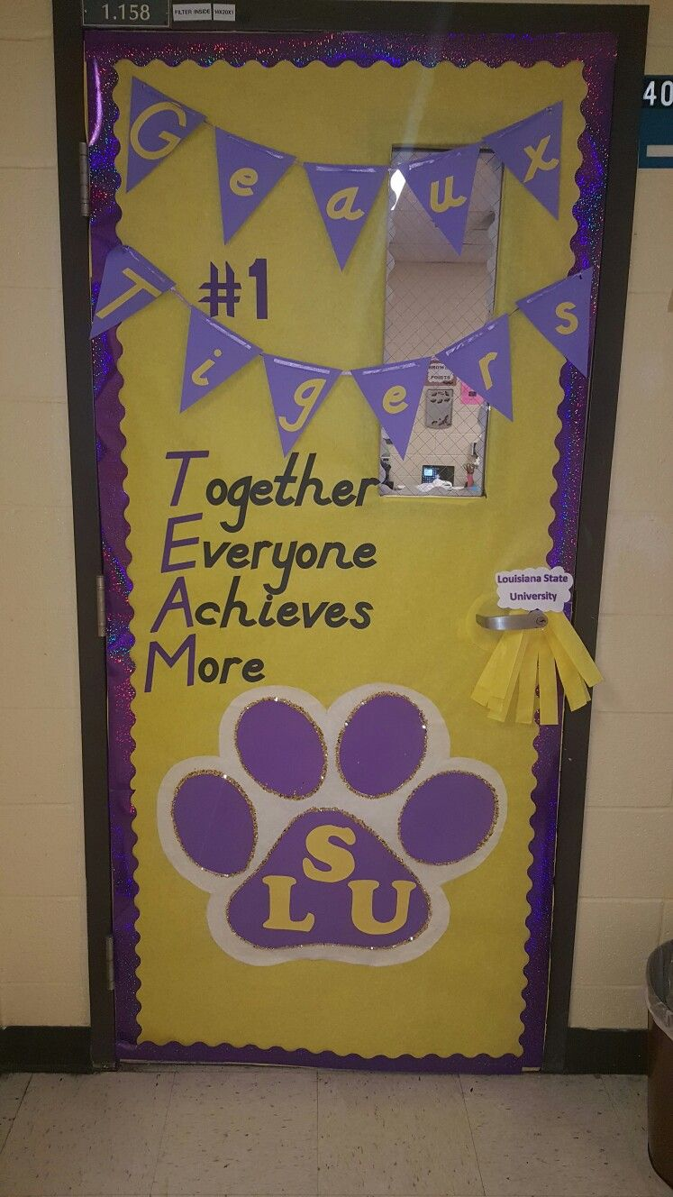 Lsu Theme Classroom Door I Decorated My Door For Our Math