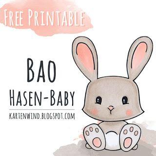 Hasen Baby Freebie Printable Von Kartenwind Freebie