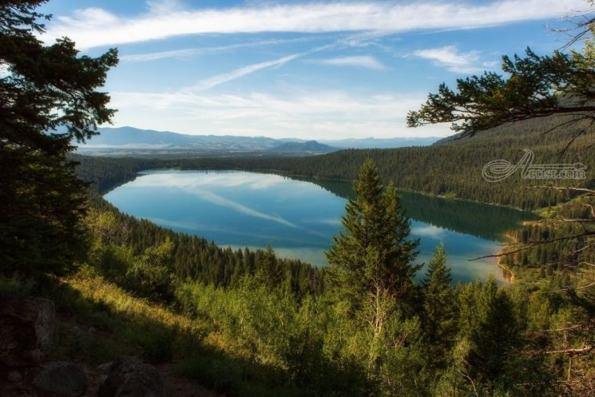 Title:Phelps Lake; Artist Name:Mike DeCesare; Description:Mountain lake in the American West....; Art Form:Photography; Style:Photorealism; Media:Photography: Premium Print; Genre:Landscape