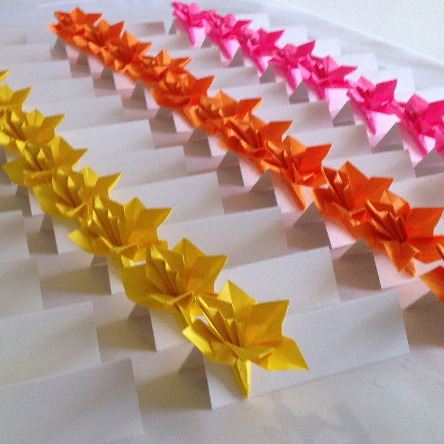 Place Cards Wedding Escort Cards Origami Paper Flower 3000 Via