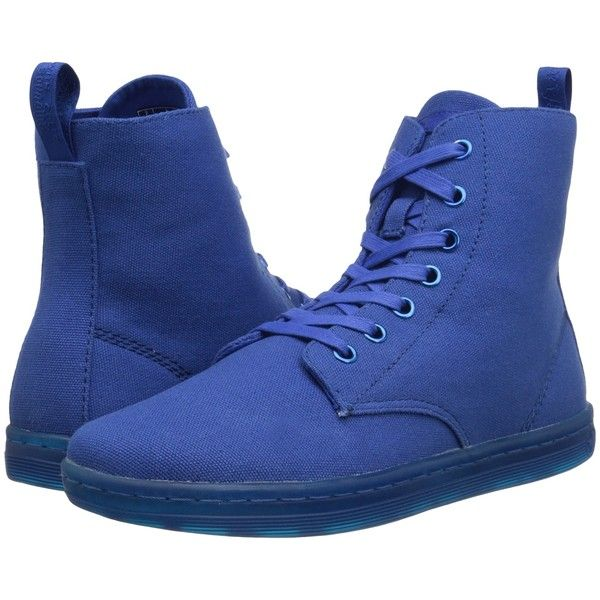 Dr. Martens Hackney 7-Eye Boot Dr. Martens- Blue Canvas boots