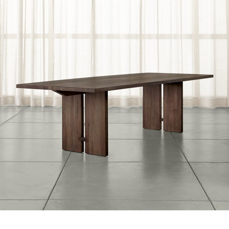 Monarch Shiitake 108 Dining Table Reviews Crate And Barrel