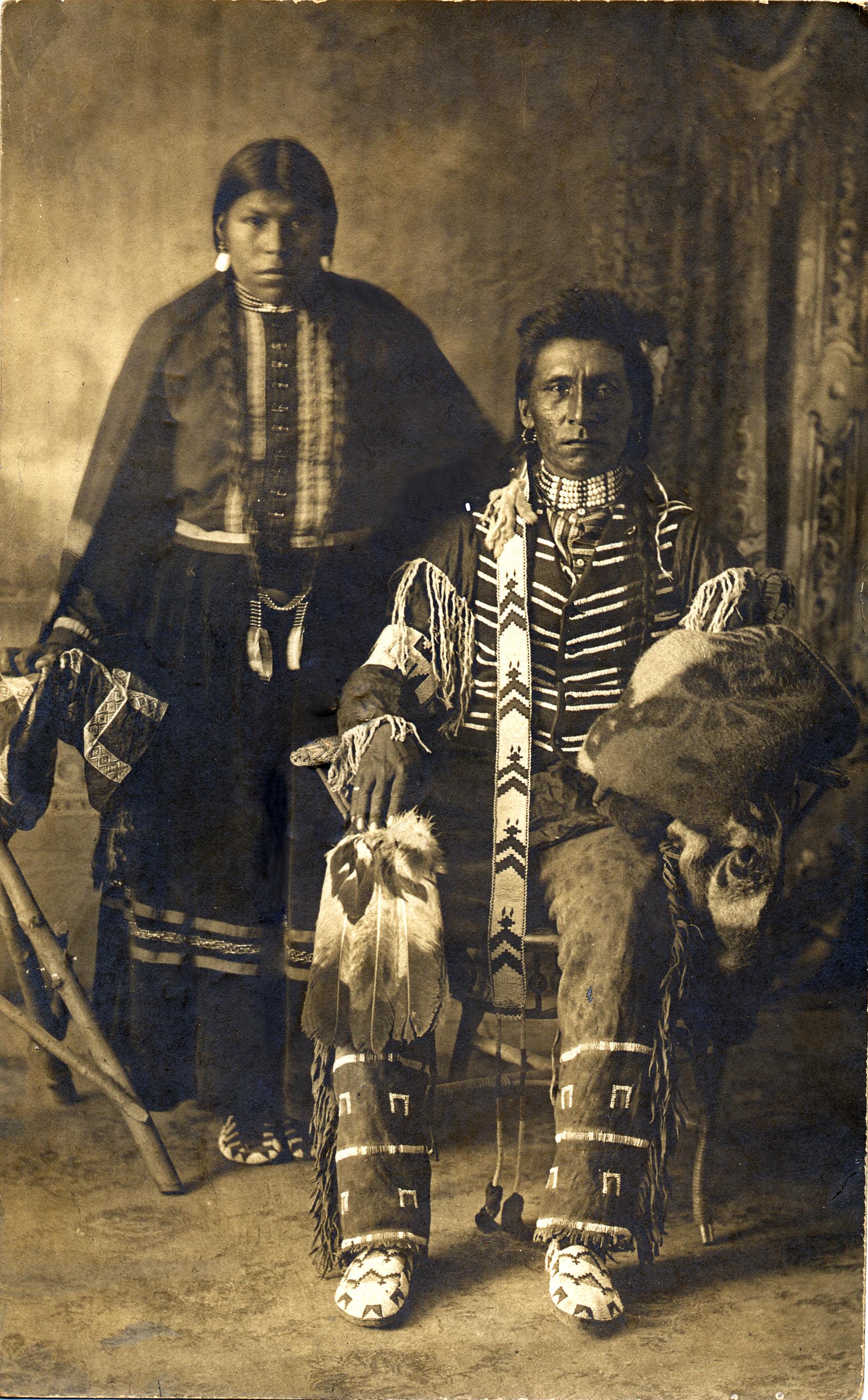 Native canadian couple postcard1903 native north