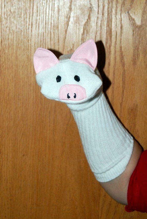 Este es un títere de calcetín hecho a mano; un cerdo. He creado esta ...