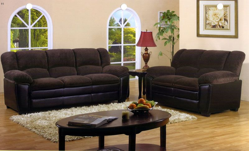 Dark Brown Microfiber Sofa TheSofa